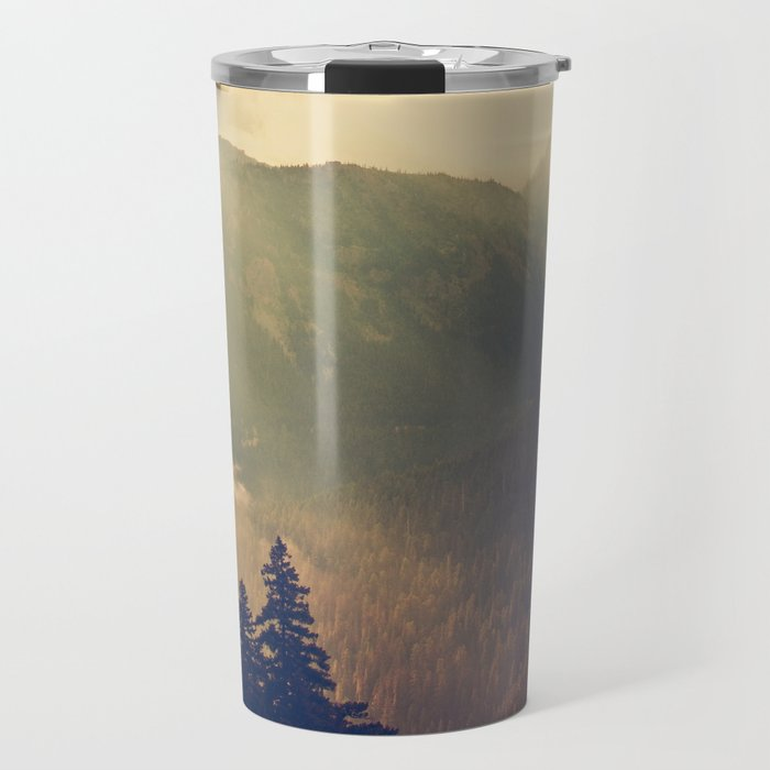 Sunrise over the Mountians Travel Mug