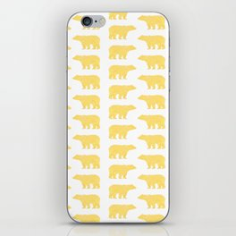 Gold Bears - foil glitter sparkle gold pattern print bear golf golfing nature trendy hipster sports iPhone Skin