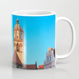 The Market Square (Markt) and the Church of Our Lady (Frauenkirche) in Meissen, Germany Coffee Mug