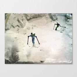 House Disaster Art -  Skiing Mount Sheetrock Canvas Print