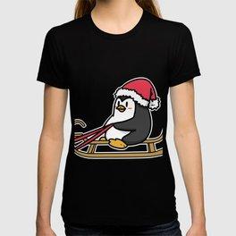 sled penguin T-shirt