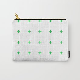 PLUS ((true green on white)) Carry-All Pouch