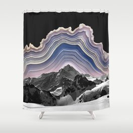 Agate Mountains Shower Curtain