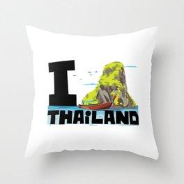 Visit Thailand Throw Pillow