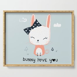 RABBIT BUNNY CARTOON Serving Tray