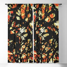 Vectorised and digitally modified, Jackson Pollock style fine art decor and clothing Blackout Curtain