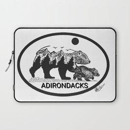 """""""Adirondack Mama""""  Baby Bear Cub, Adirondacks, ADK, Black Bear Art, Bears Decor Wall Art Laptop Sleeve"""