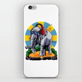 Hipster Elephant | Cool Glasses Headphones Swag iPhone Skin