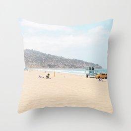Redondo Beach // California Ocean Vibes Lifeguard Hut Surfing Sandy Beaches Summer Tanning Throw Pillow