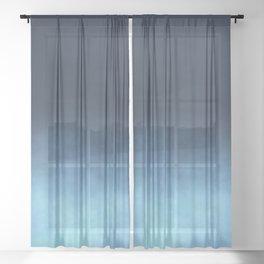 Mist - Midnight Blue Ombre Sheer Curtain
