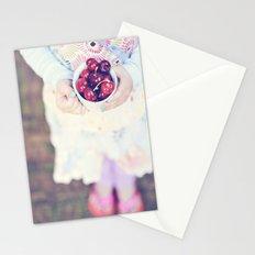 Sweet Cherry Girl Stationery Cards