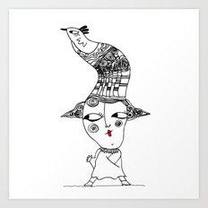 bird men Art Print