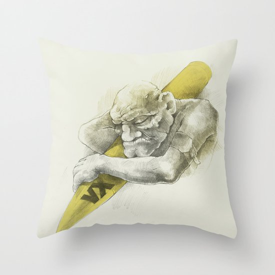 WL / I Throw Pillow