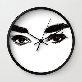 Audrey's eyes Wall Clock