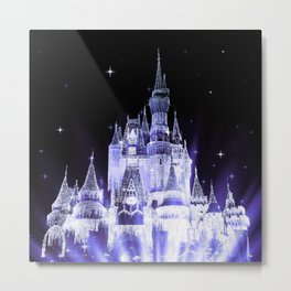 Enchanted Castle Periwinkle Lavender Metal Print