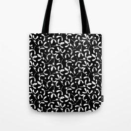 Rustic Mistletoe B-W Tote Bag