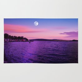 full moon over Scotland Rug