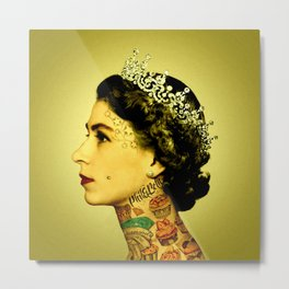 Royal Tattoo Metal Print