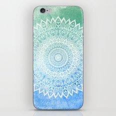 OCEAN PASSION LEAVES MANDALA iPhone & iPod Skin