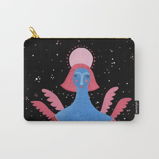 Merry Christmas! - Angel above the village Carry-All Pouch