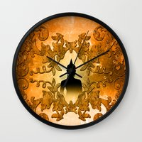buddha Wall Clocks featuring Buddha  by nicky2342