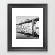 LA Bridge Framed Art Print