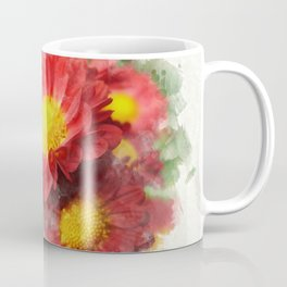 Chrysanthemum Watercolor Painting Coffee Mug