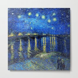 Starry Night Over the Rhone by Vincent van Gogh Metal Print