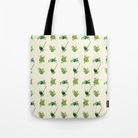 tmnt Tote Bags featuring TMNT by Dean Heezen Art