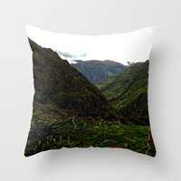 peru Throw Pillows featuring Rural Peru by Miranda Stein