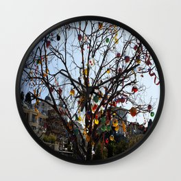 Balloon Tree1 Wall Clock