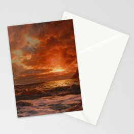 Sunrise over the Sea by Ivan Fedorovich Choultsé Stationery Cards