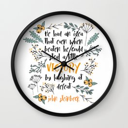 Steinbeck Victory Wall Clock