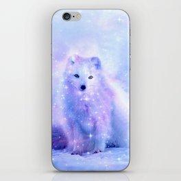 Arctic iceland fox iPhone Skin