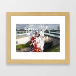 Zion Ama Dio - Le Grand Spectacle du Lait // The Grand Spectacle of the Milking Framed Art Print