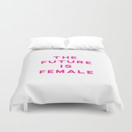 The Future Is Female Aesthetic Duvet Cover