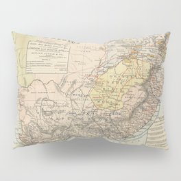 Vintage South Africa Resource Map (1889) Pillow Sham