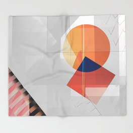 Abstract 2017 046 Throw Blanket