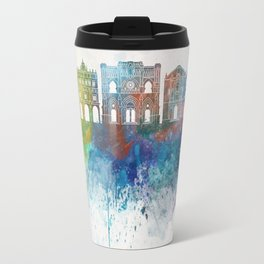 Cuenca skyline in watercolor background Travel Mug