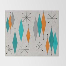 Mid-Century Modern Diamond Pattern Throw Blanket