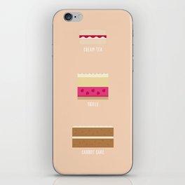 English Desserts iPhone Skin