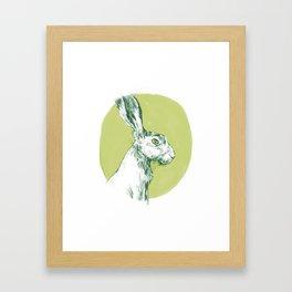 Green Hare Framed Art Print