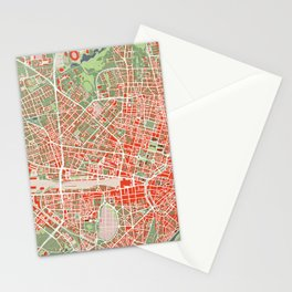 Munich city map classic Stationery Cards