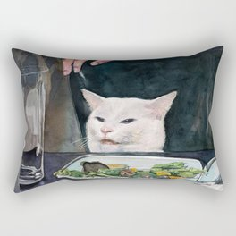 Woman Yelling at Cat Meme-2 Rectangular Pillow