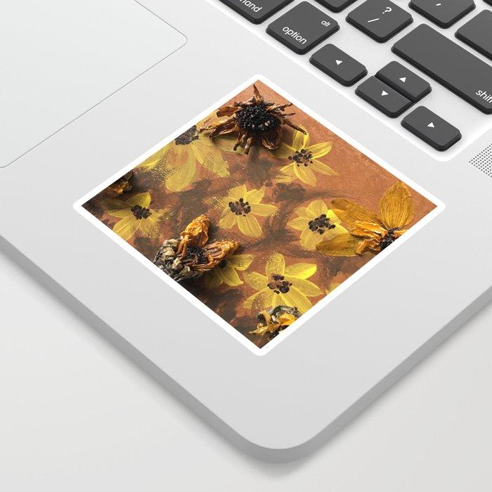 Sunflower Garden Artwork Sticker