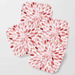 Watercolor brush strokes - red Coaster