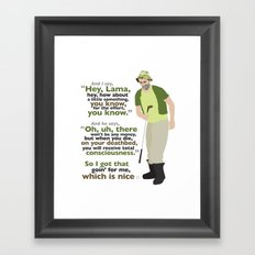 Carl Spackler and the Lama Framed Art Print