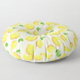 Lemon Pattern Floor Pillow