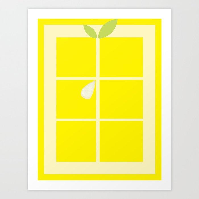 Rectangle lemon Art Print