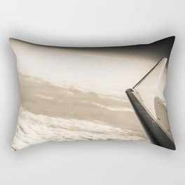 Airplane View Black and White Rectangular Pillow